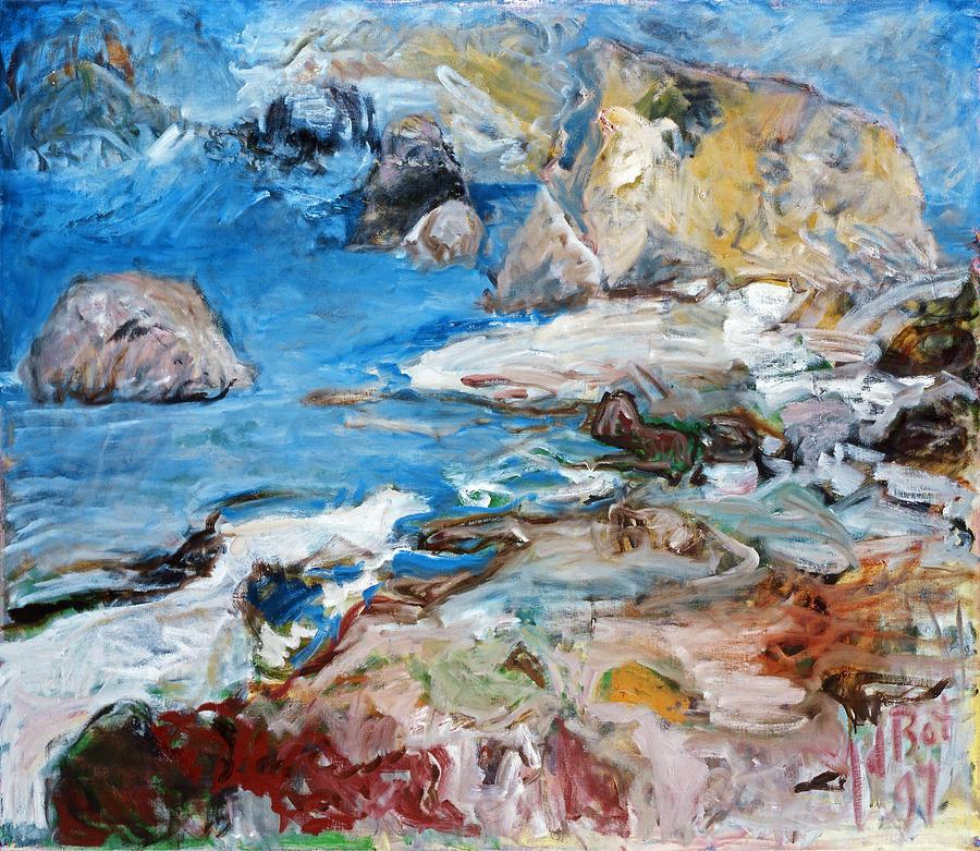 Aphrodites Rock Painting by Joan De Bot
