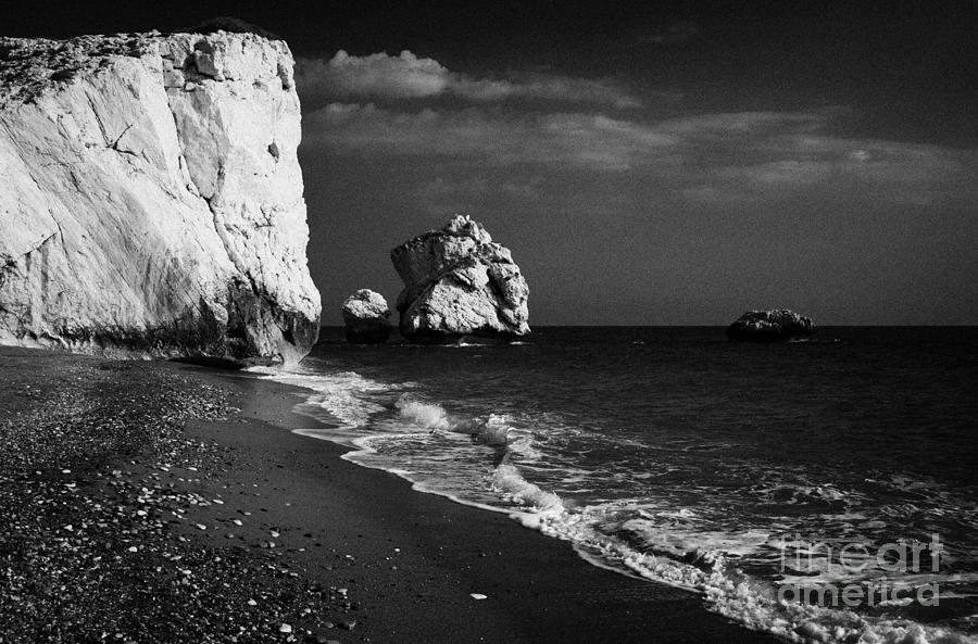 Aphrodites Photograph - Aphrodites Rock Petra Tou Romiou Republic Of Cyprus by Joe Fox