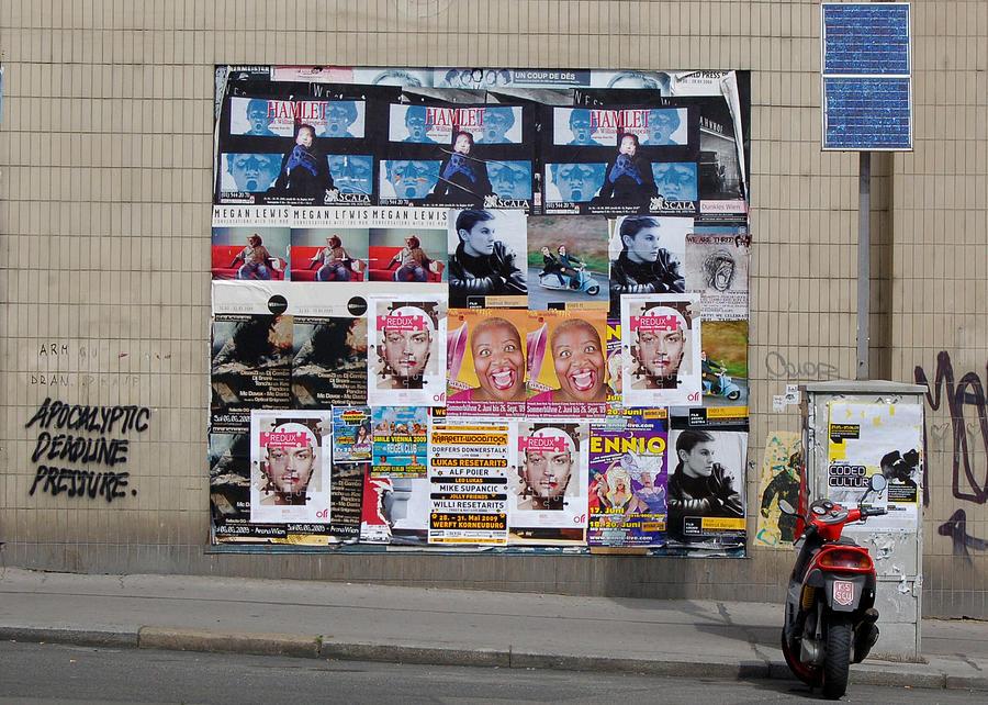 Vienna Photograph - Apocalyptic Deadline Pressure Vienna Austria 2009 by Wayne Higgs