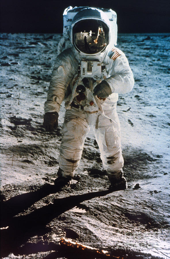 1969 Photograph - Apollo 11 Buzz Aldrin by Granger