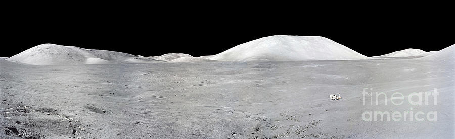 No People Photograph - Apollo 17 Panorama by Stocktrek Images