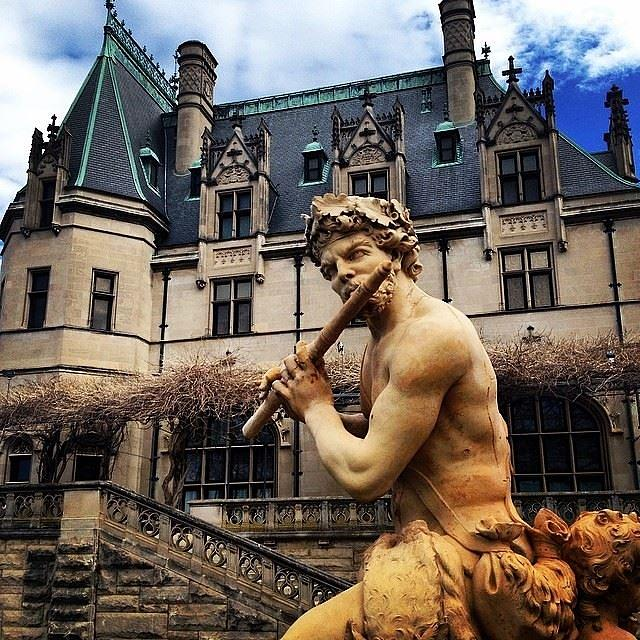 Statue Photograph - Apollo Playing The Flute by Jen McKnight