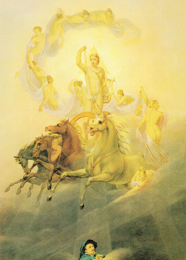 German Painters Painting - Apollo With The Hours by Georg Friedrich Kersting