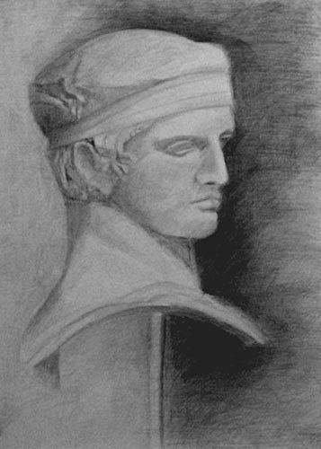 Apollon Diadoumenos Drawing by Vasilis Ioannou