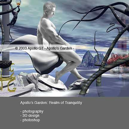 Male Nudes Digital Art - Apollos Garden Realm Of Tranquility by Apollo GT