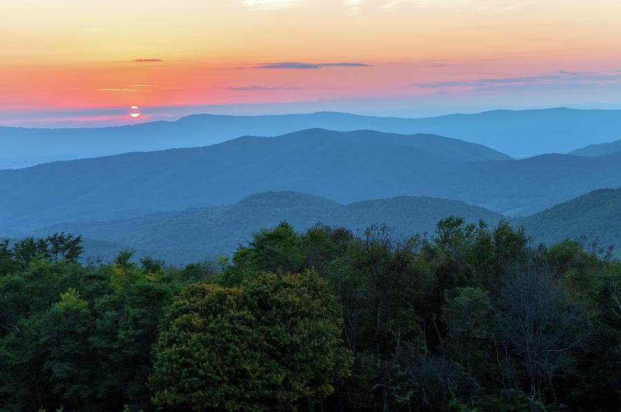 Appalachian Mountains At Sunset Photograph