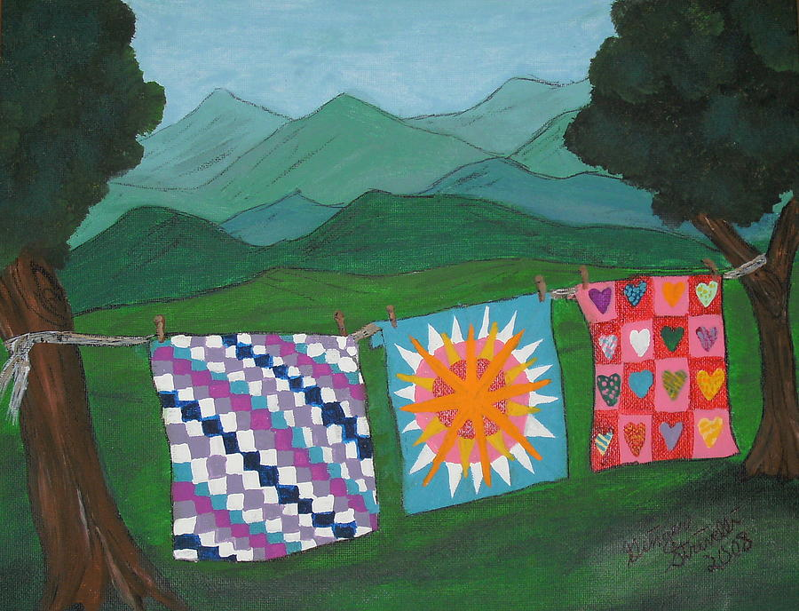 Appalachian Quilts Painting by Ginger Strivelli : appalachian quilts - Adamdwight.com