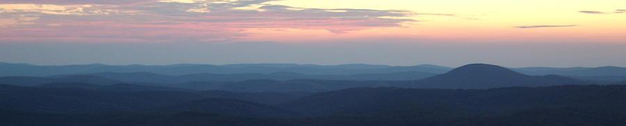 Appalachian Twilight Panorama Photograph by Joshua Bales