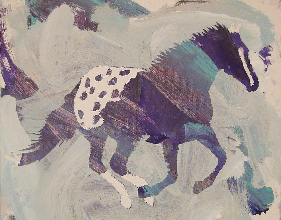 Horse Painting - Appaloosa Dreams by Candace Shrope