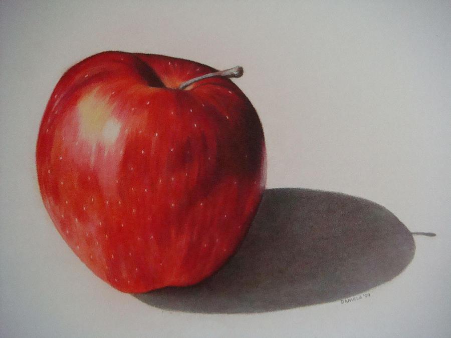 Apple Drawing - Appealing by Daniela Rioux