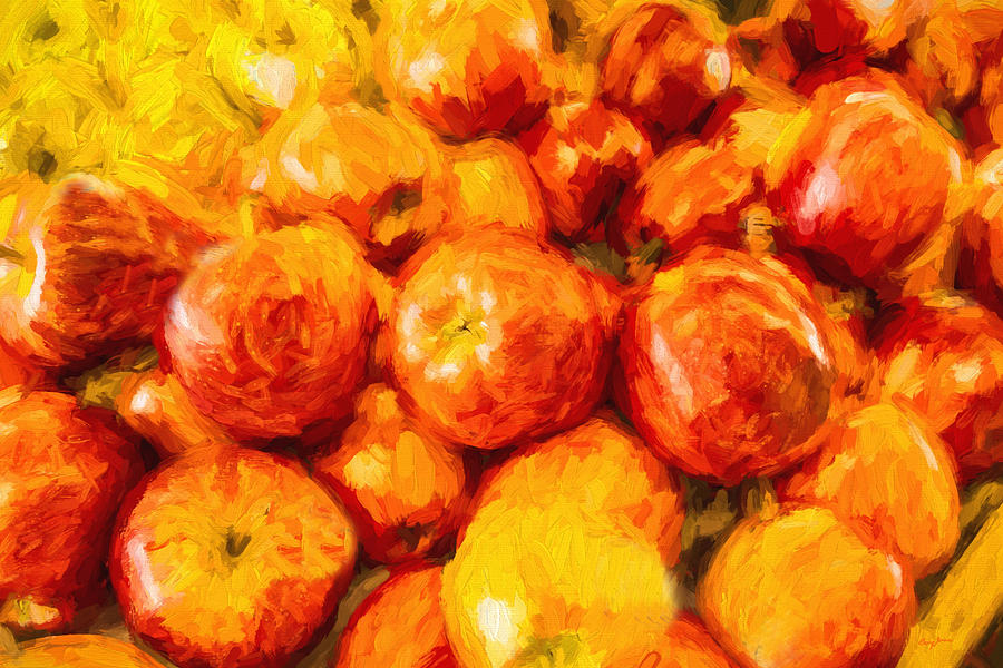 Apples Painting - Apple A Day - Impressionism by Barry Jones