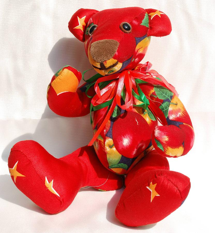Apple Tapestry - Textile - Apple Bear by Tamara Konovalova