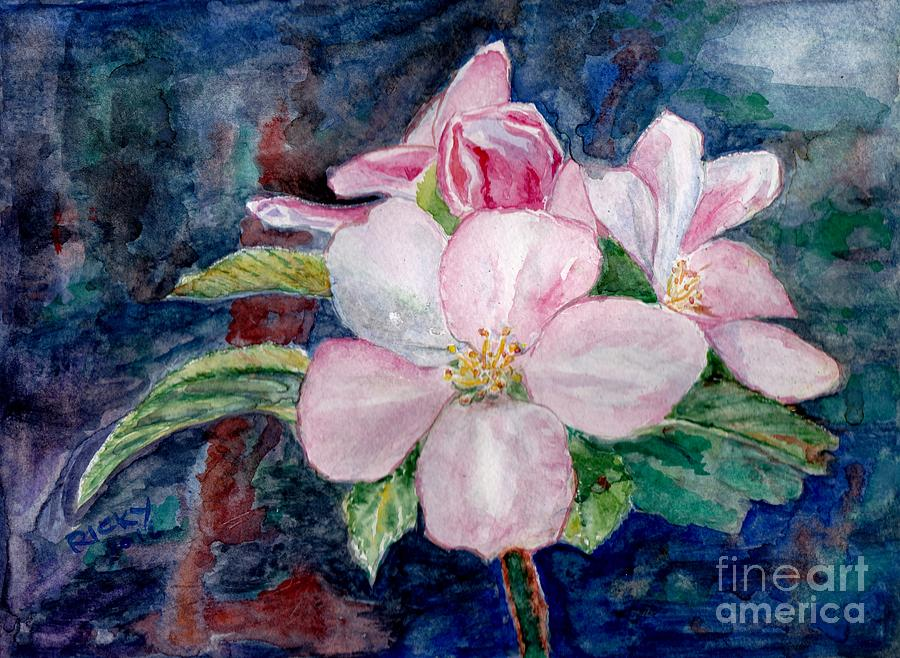 Flowers Painting - Apple Blossom - Painting by Veronica Rickard