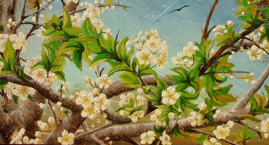 Apple Blossom Painting