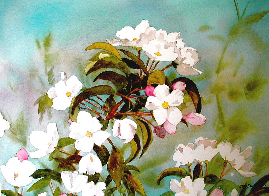 Blossoms Painting - Apple Blossoms by Faye Ziegler