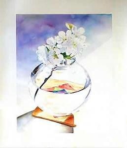 Realism Painting - Apple Blossoms by Doug E L Haynes
