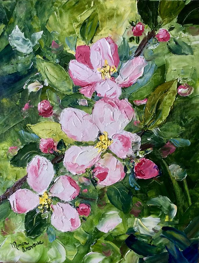Original Painting - Apple Blossoms  by Monica Ironside