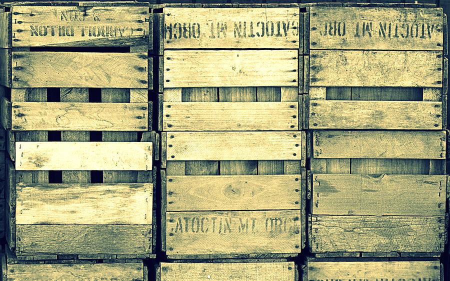 Apple Crates Wooden Texture Photograph
