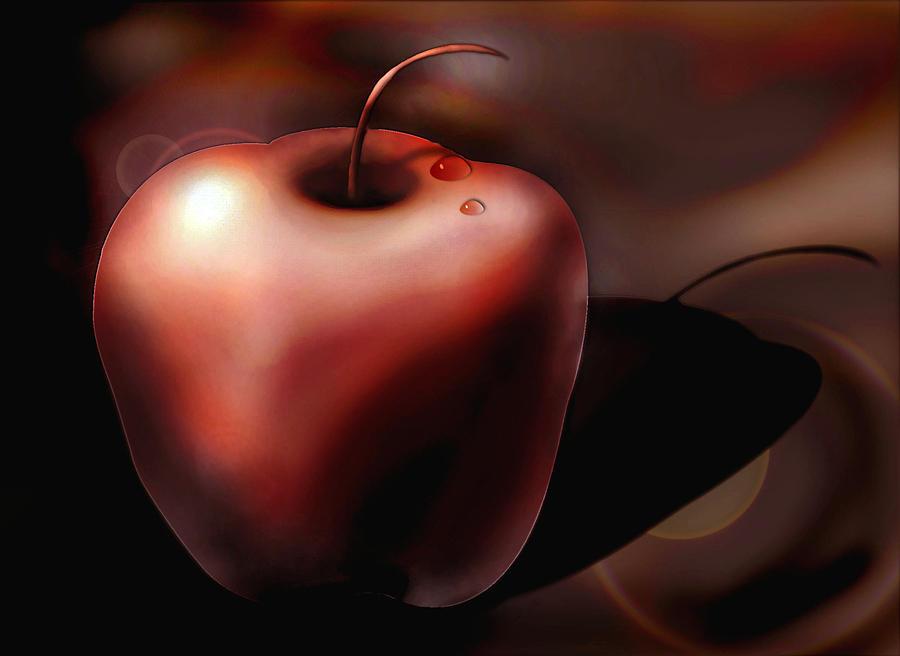 Apple Digital Art - Apple by Dayalan Oviyan