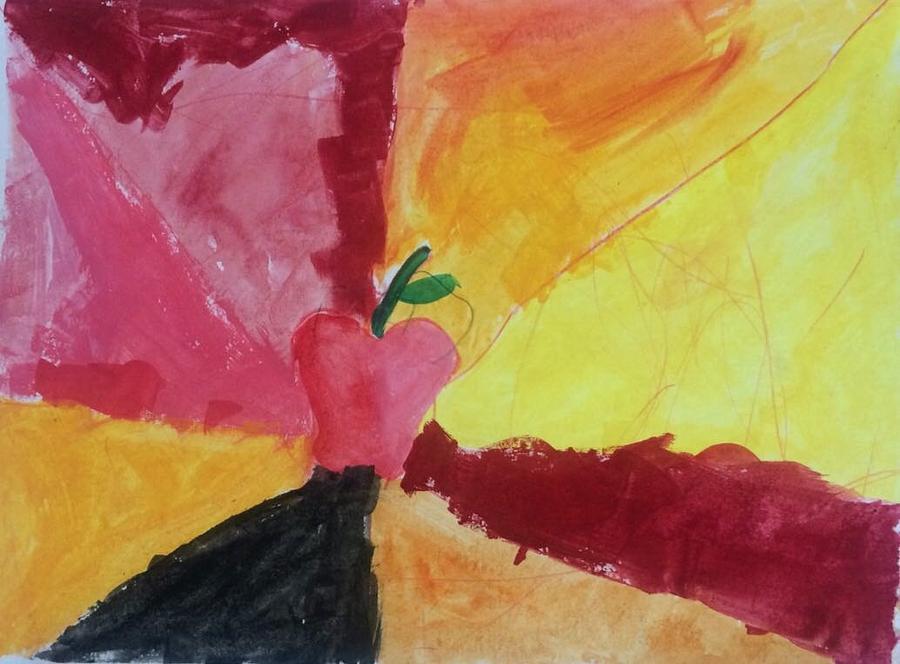 Apple Painting by Fernanda Machuca