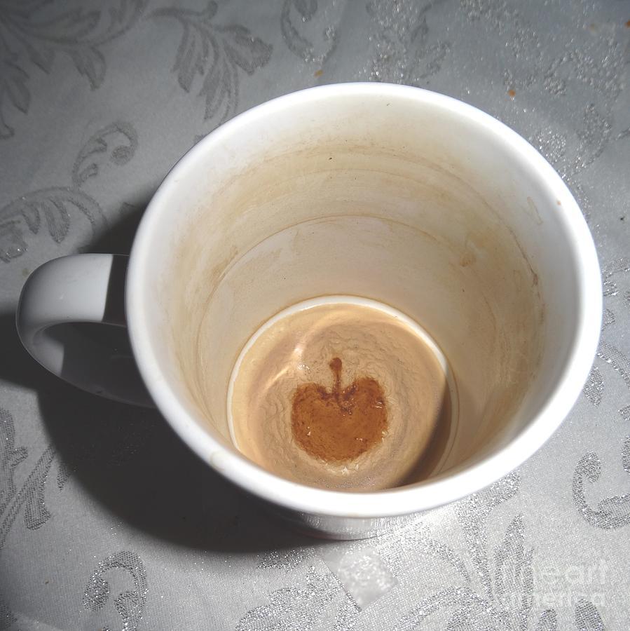 Apple in a mug by Karen Jane Jones