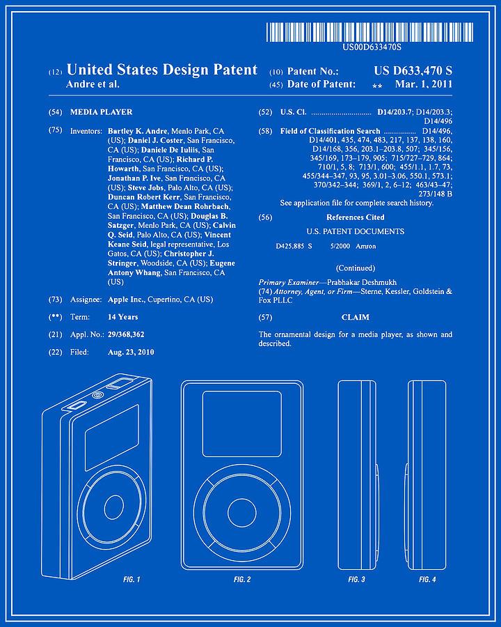 Apple ipod patent blueprint digital art by finlay mcnevin patent digital art apple ipod patent blueprint by finlay mcnevin malvernweather Images