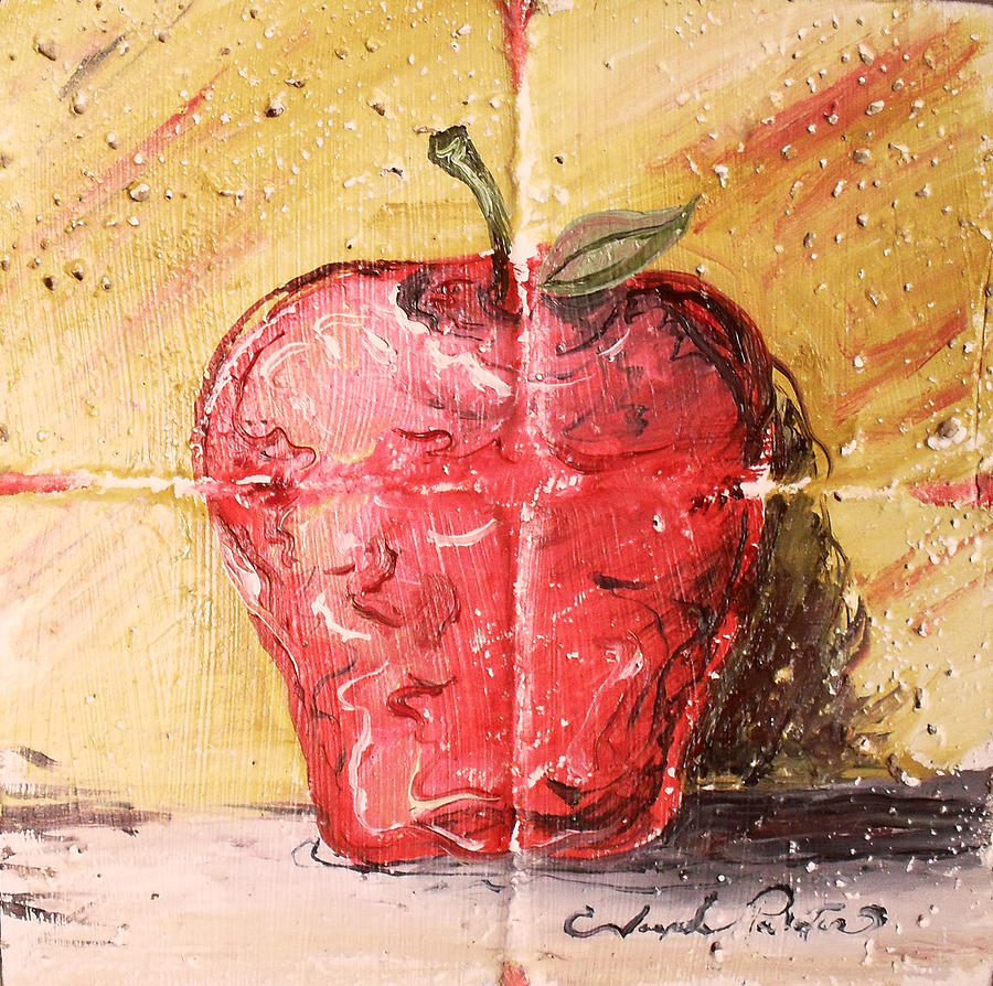 Apple Painting - Apple by Joseph Palotas