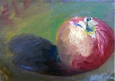 Apple Painting - Apple by Julieanne Nielsen