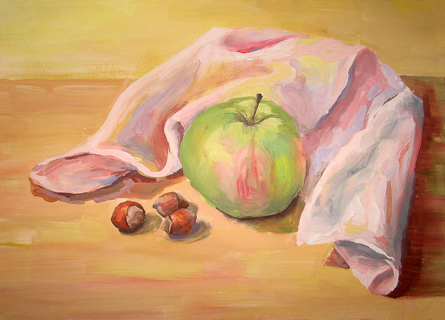 Apple Painting by Maria Mikulich