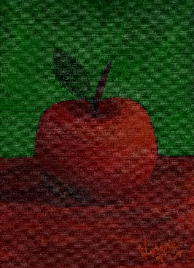 Apple Painting - Apple Of My Eye by Valerie Tait