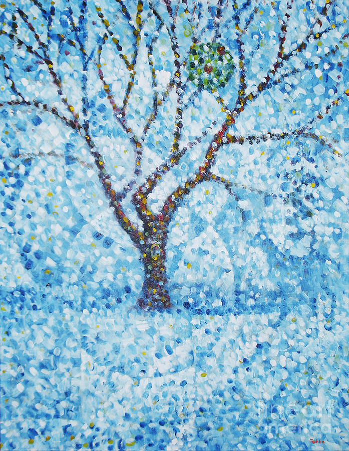 Country Apple Orchard Painting - Apple Orchard / Winter by Jim Rehlin