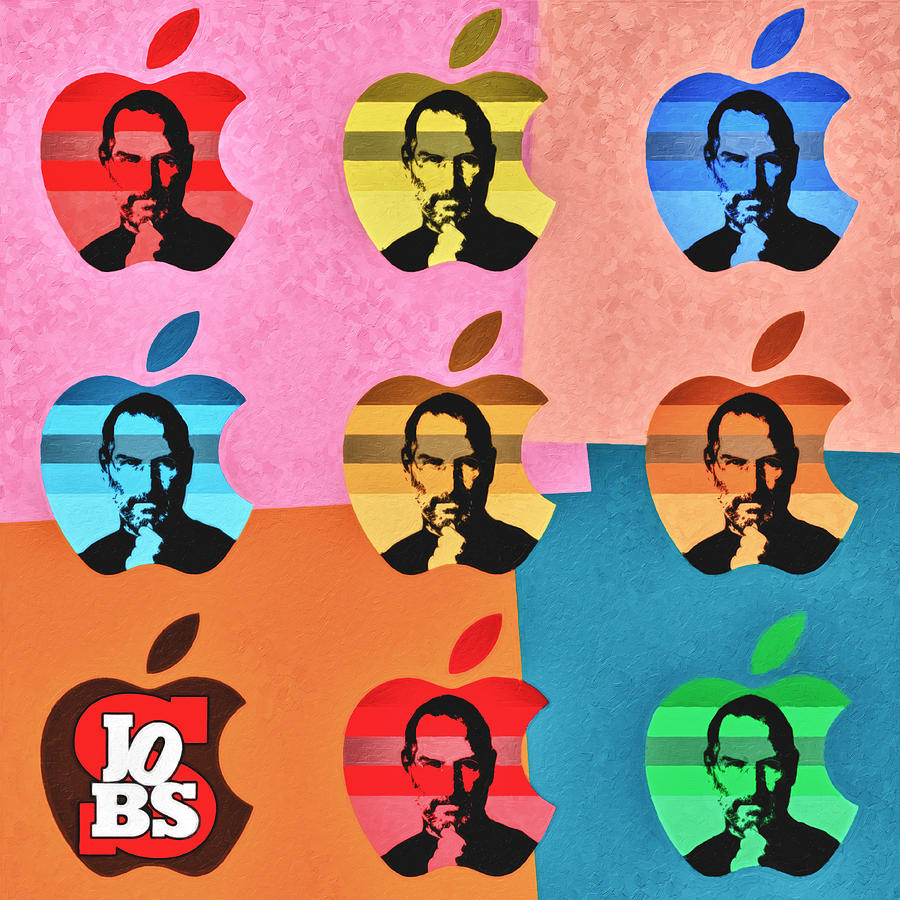 Apple Pop Art Steve Jobs Tribute Painting By Radu Aldea