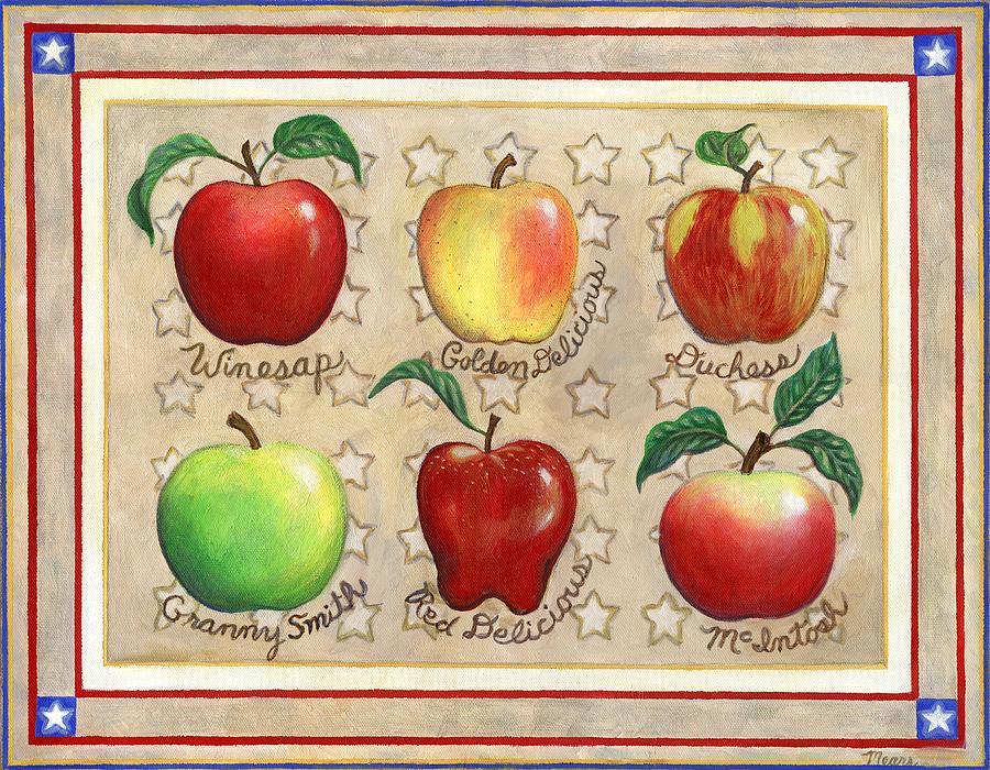 Apple Painting - Apple Sampler Two by Linda Mears