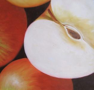Still Life Painting - Apple Section by Chuck Zhou