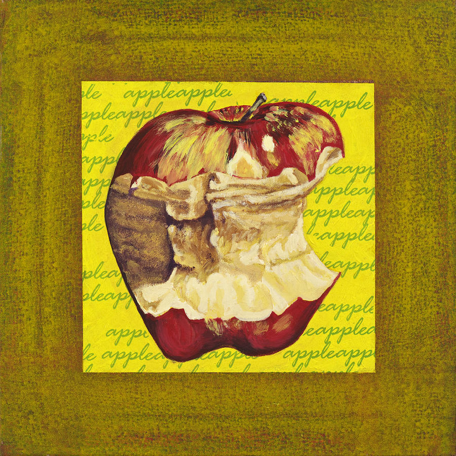 Bright Painting - Apple Series Number Five by Sonja Olson