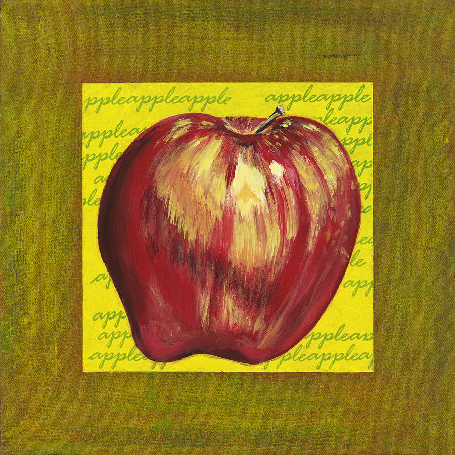 Apple Series Number One Painting by Sonja Olson