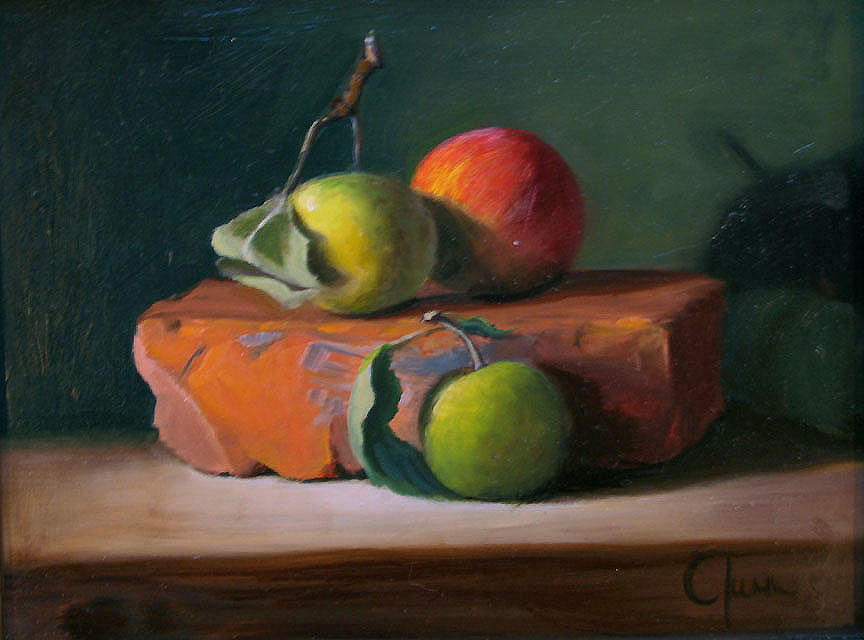 Still Life Painting - Apple Study by Cary  Jurriaans