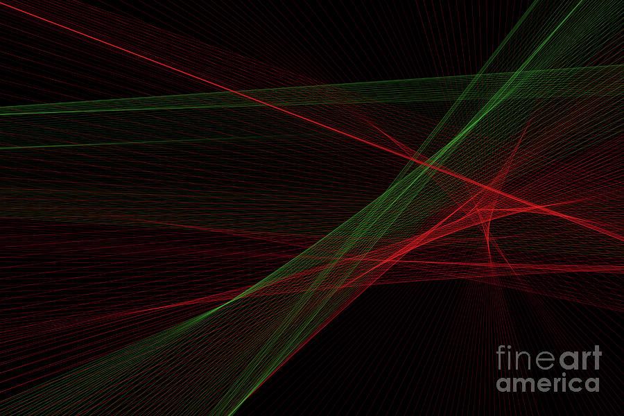 Abstract Digital Art - Apple Tree Computer Graphic Line Pattern by Frank Ramspott