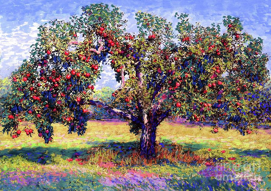 Tree Painting - Apple Tree Orchard by Jane Small