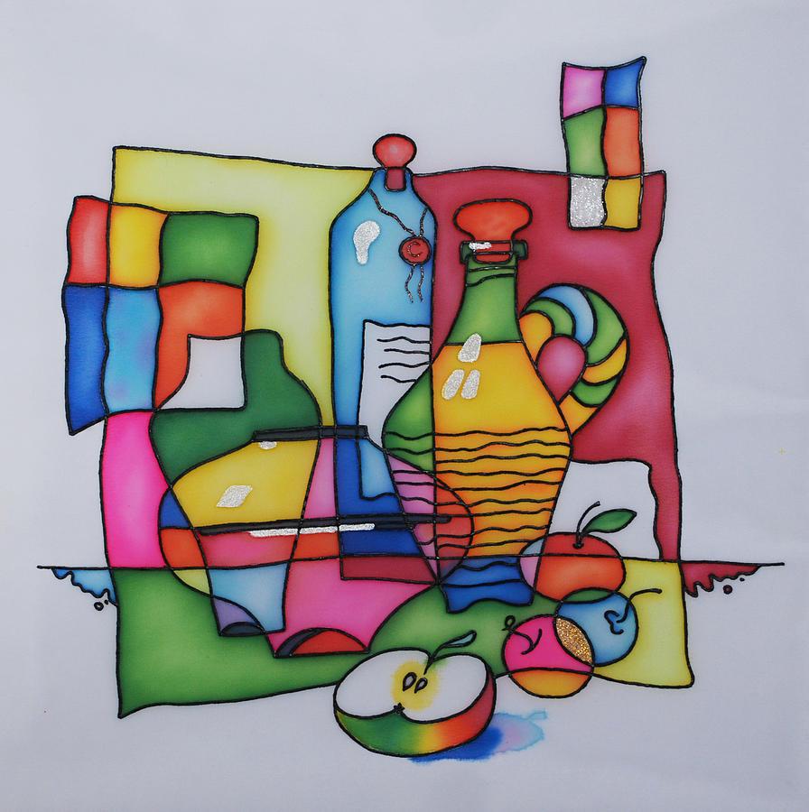 Still Life Painting - Apple Wine by Tatiana  Antsiferova