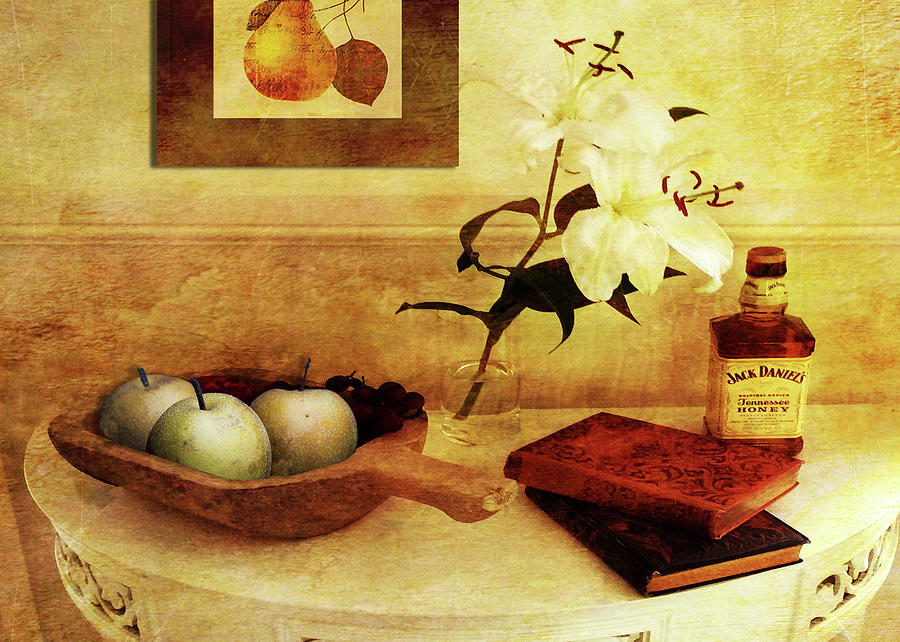 Apples Digital Art - Apples and Pears in a Hallway by Sarah Vernon