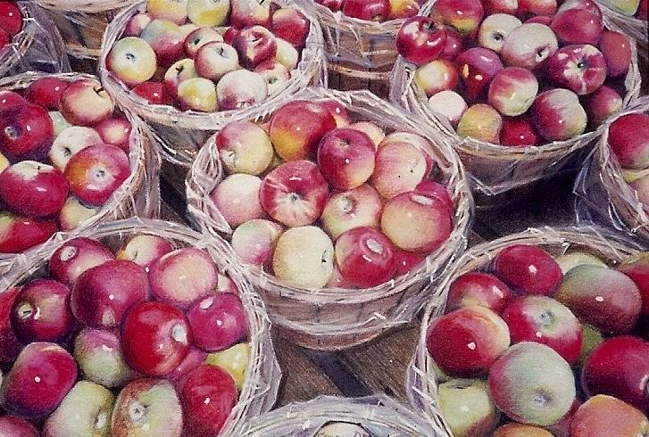 Red Painting - Apples by Constance Drescher