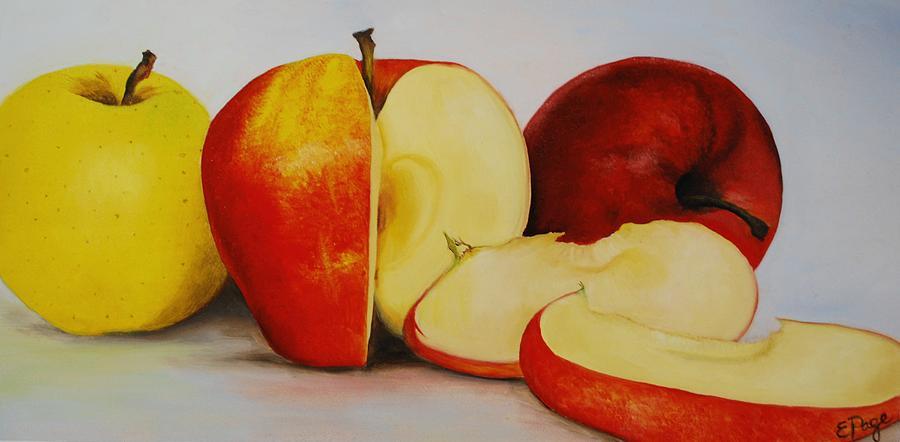 Realism Painting - Apples by Emily Page