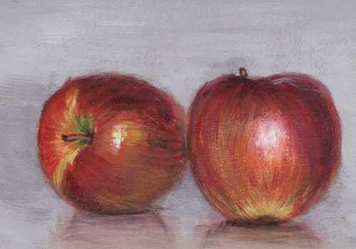 Apples Painting - Apples by Janet Couture
