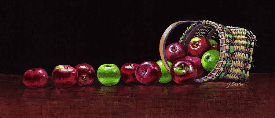 Still Life Painting - Apples by JoAnne Castelli-Castor
