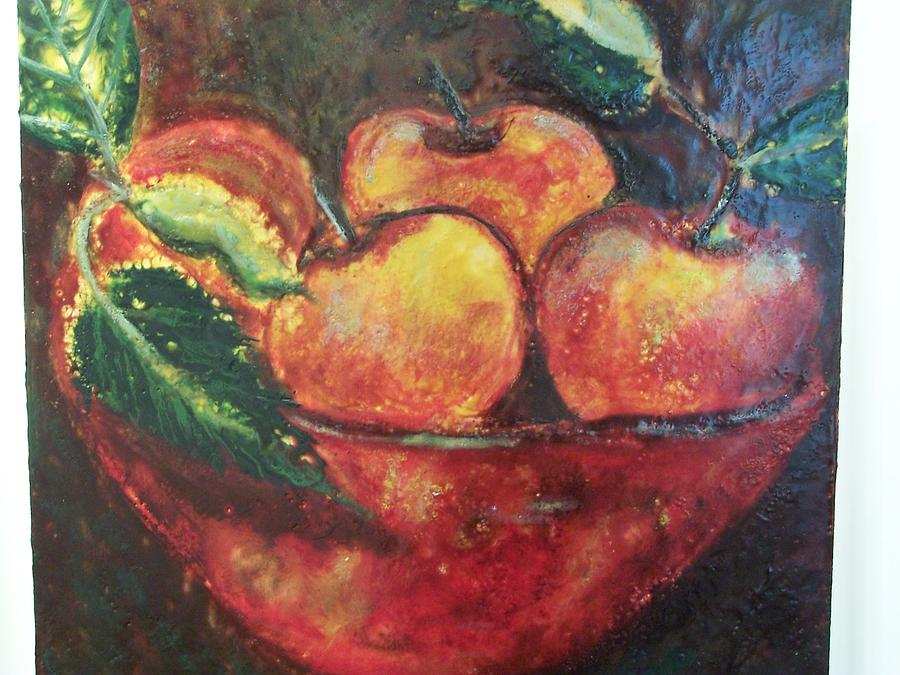 Still Life Painting - Apples by Karla Phlypo-Price