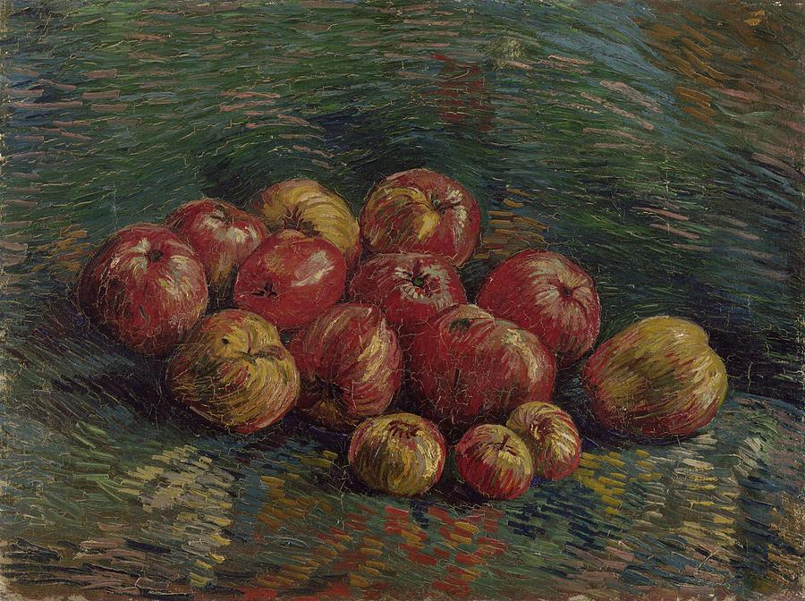 Apple Painting - Apples Paris, September - October 1887 Vincent Van Gogh 1853 - 1890 by Artistic Panda
