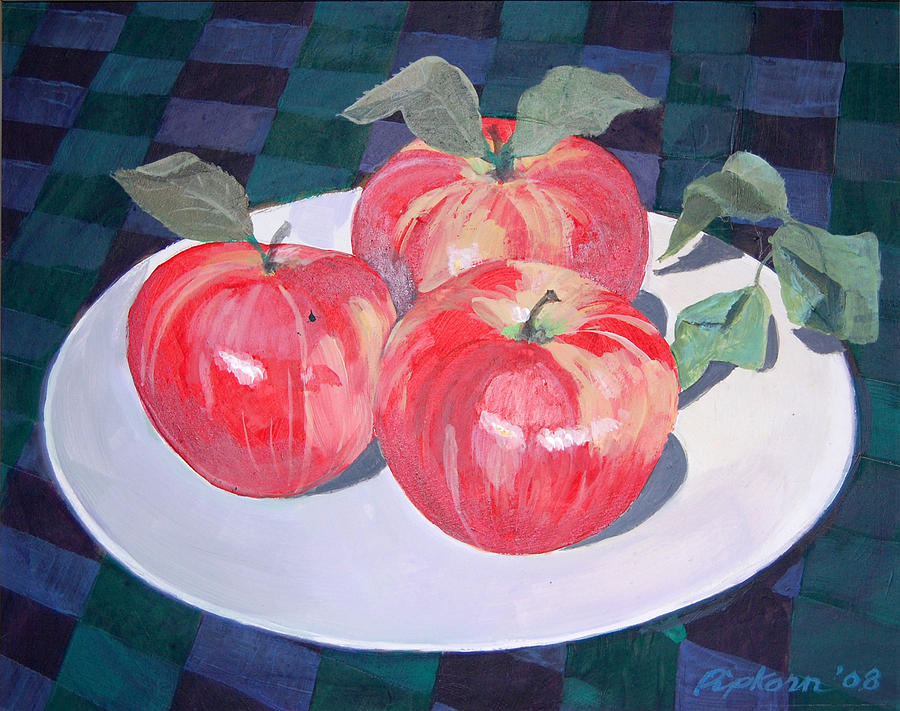 Apples Painting - Apples by Werner Pipkorn