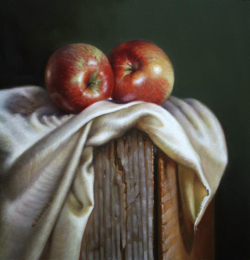 Apples Painting - Apples by William Albanese Sr