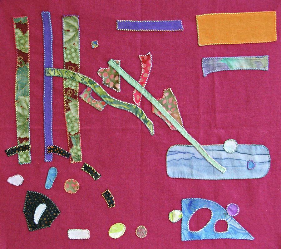 Batiks Tapestry - Textile - Applique 12 by Eileen Hale